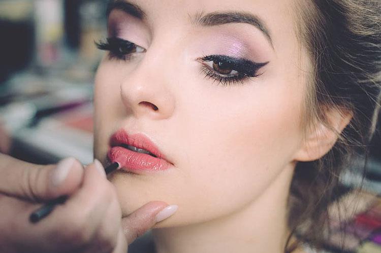 Eye Makeup and Lipstick