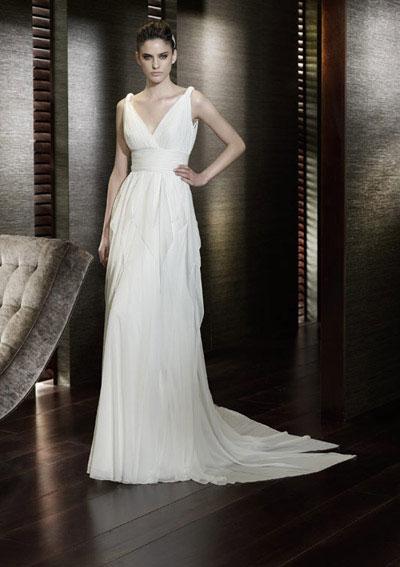 column or sheath wedding dress