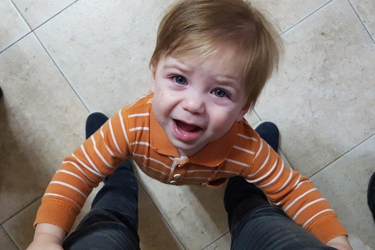 nervous toddler