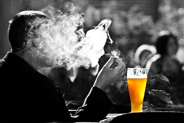 smoking and drinking alcohol
