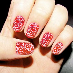 Red and Gold Ombre Nail Art Tutorial from Julep