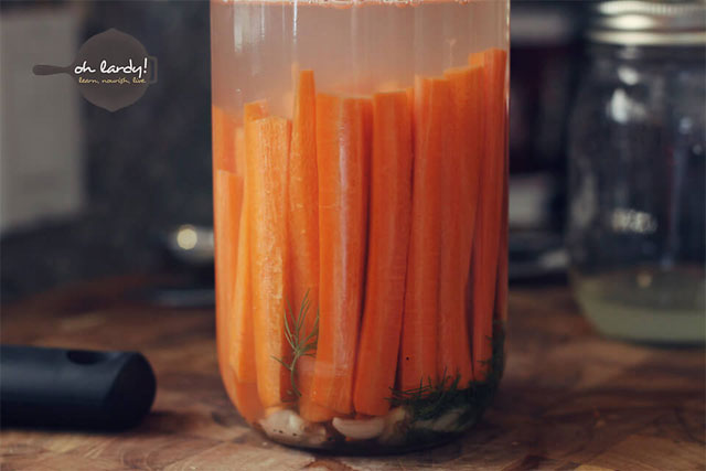 Pickled Carrots with Kefir